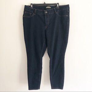 d jeans dark wash skinny jeans. Size 18 W
